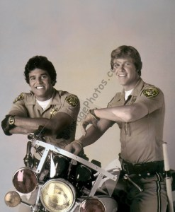 Erik Estrada & Larry Wilcox CHIPS Motorcycle
