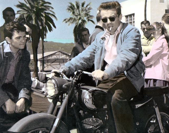 James Dean Triumph Puch sgs 250 Motorcycle
