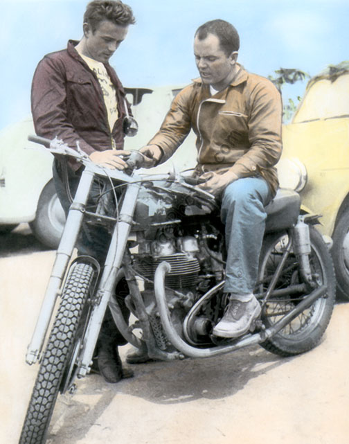 James Dean & John McLaughlin Motorcycle