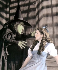 Margaret Hamilton & Judy Garland The Wizard of Oz 1939