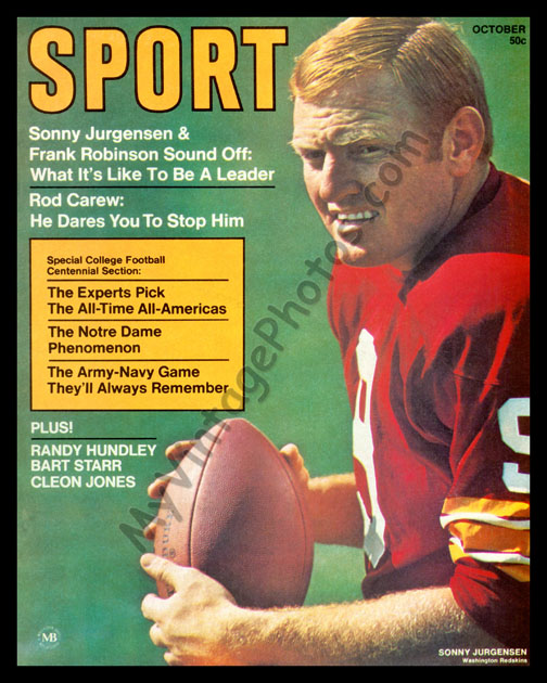 Sonny Jurgensen October 1969