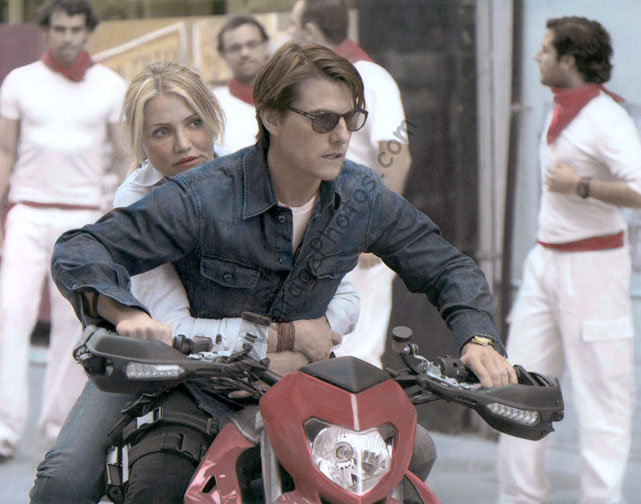 Tom Cruise & Cameran Diaz Knight and Day Motorcycle