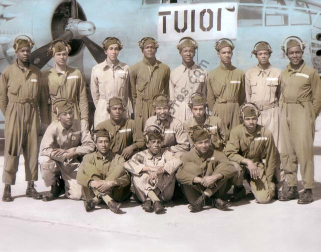 The Tuskegee Airmen, Sixteen soldiers, WWII 1945