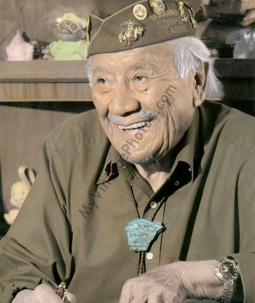 Allen Dale June, Navajo Code Talker WWII Native American Indian