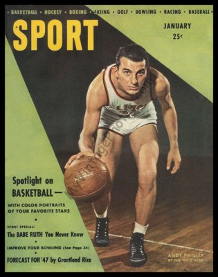 Andy Phillip, SPORT magazine January 1947