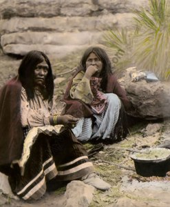 Apache Women Cooking, Native Americans
