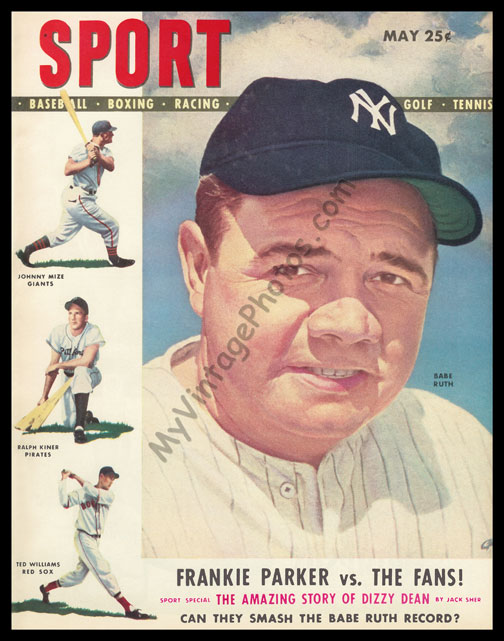 Babe Ruth, SPORT magazine May 1948