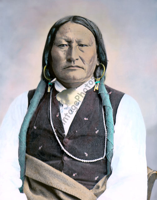 Bird Chief, Arapaho Native American Warrior 1871