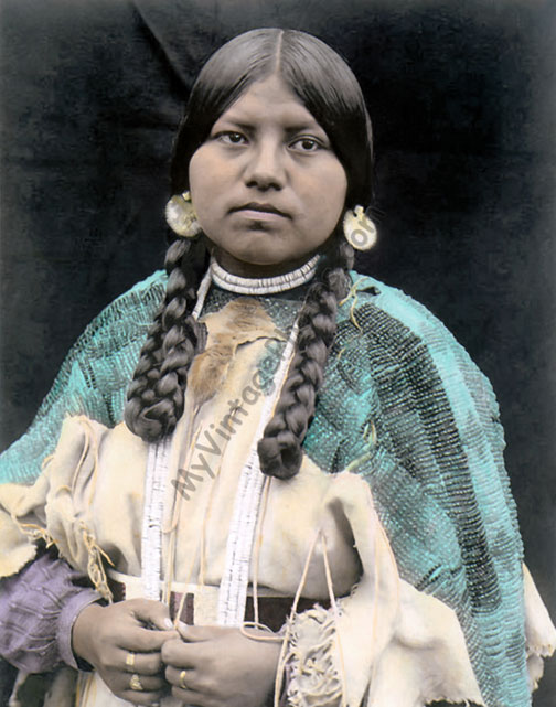 Cayuse Native American woman
