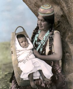 Hupa Native American Indian Mother & Infant 1924