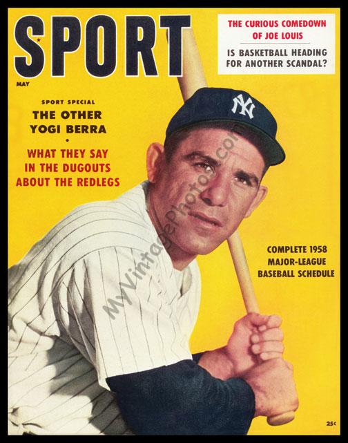 Yogi Berra, SPORT magazine May 1958