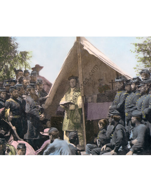 Civil War Chaplain & Union Soldiers