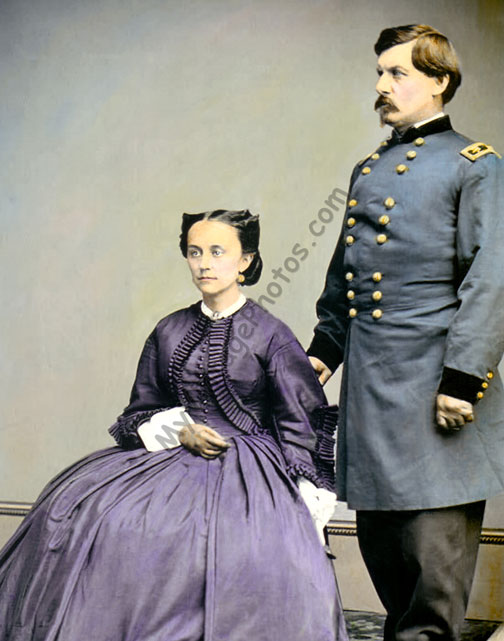 General George B McClellan & wife, 1865