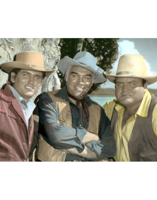Michael Landon, Lorne Green & Dan Blocker, Bonanza 1960s