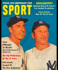 Joe DiMaggio & Micky Mantle, SPORT magazine September 1961