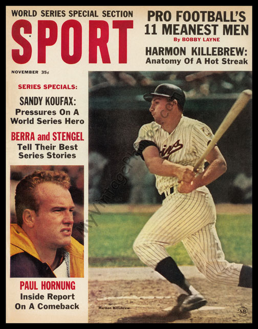 Harmon Killebrew, November 1964