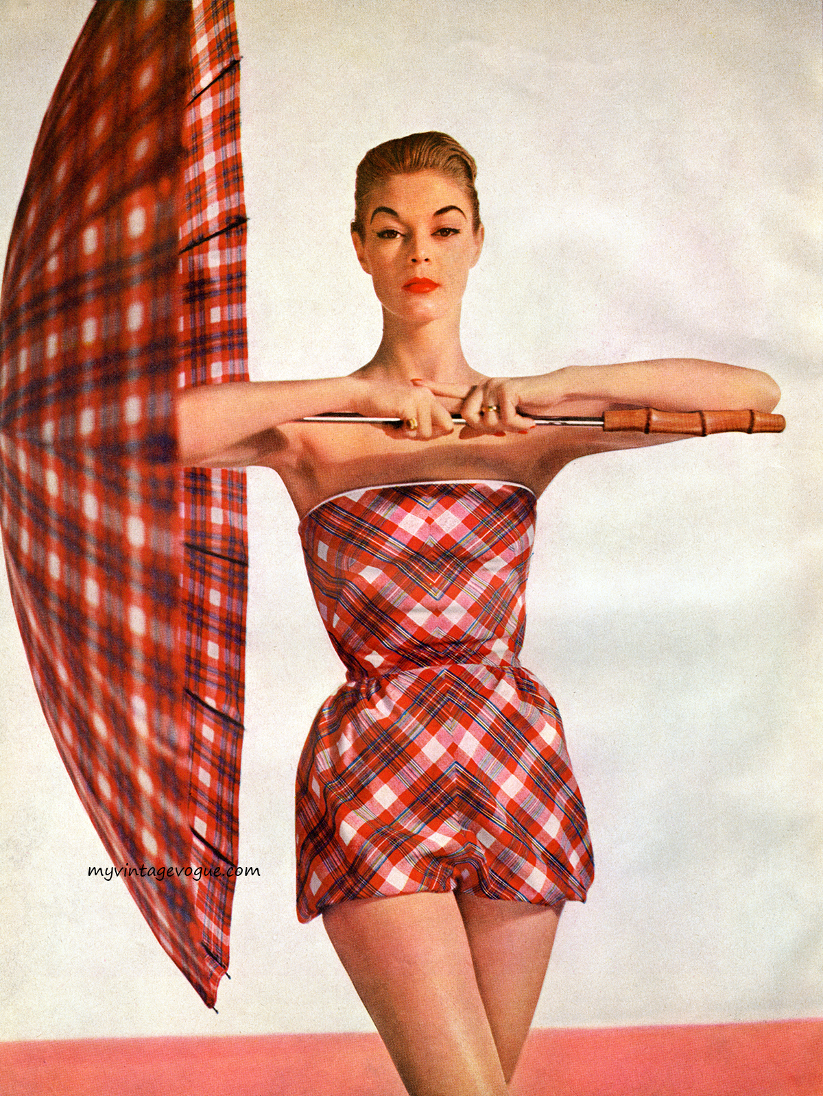 Jean Patchett on the cover of Simplicity Pattern Book</em>, Summer 1954