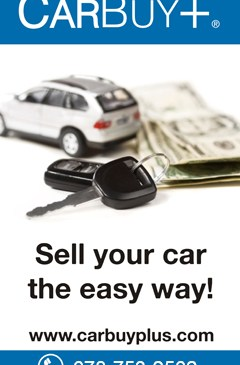 carbuyplus. sellmycar. instant money.