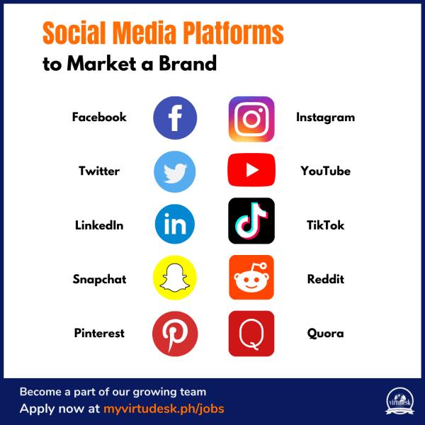social media platforms infographic