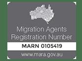 migration agents registration number-mrn 0105419