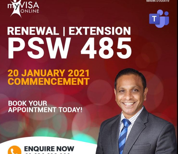 Renewal | Extension of 485 Post Study Workrights