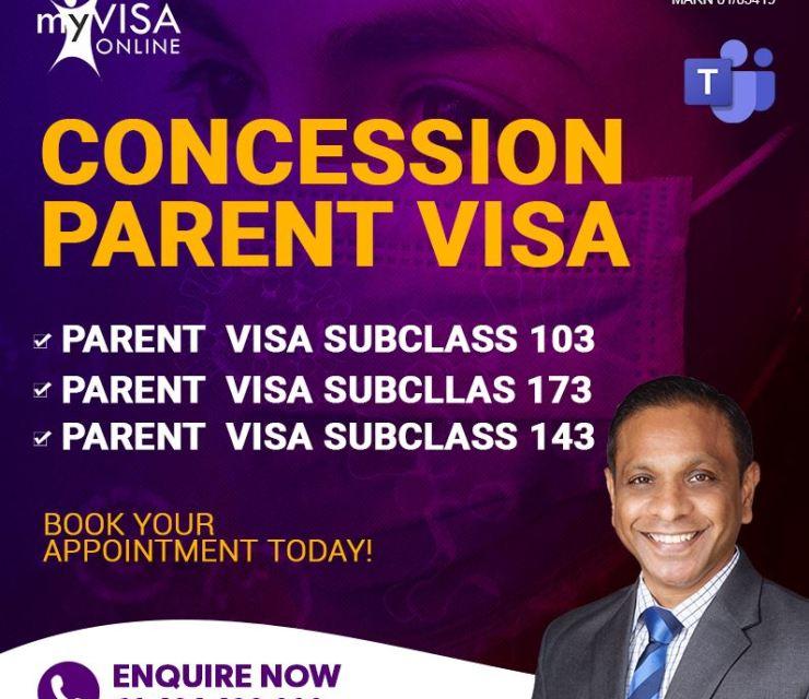 Concession Parent Visa Subclass 103, 143, 173