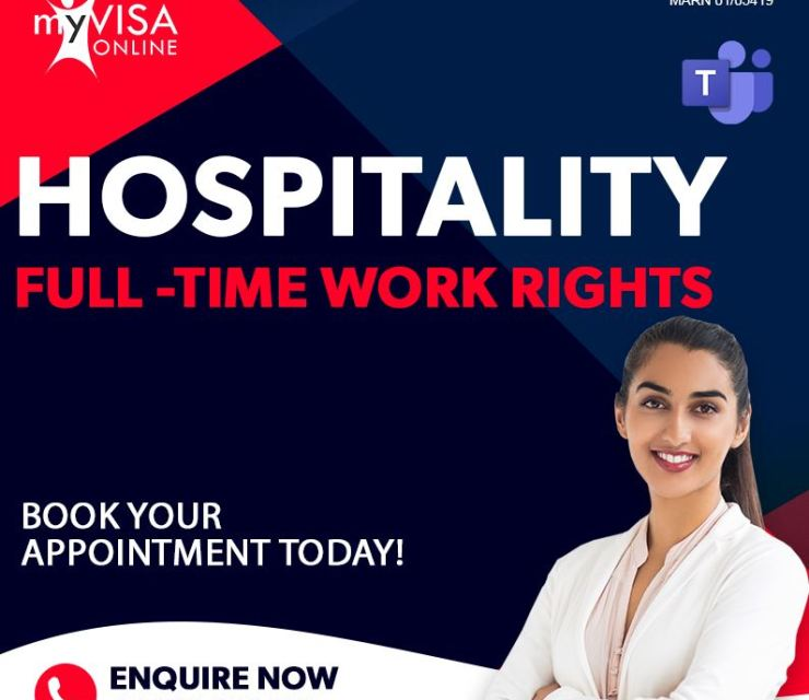 International Students – Hospitality Full time Work Rights