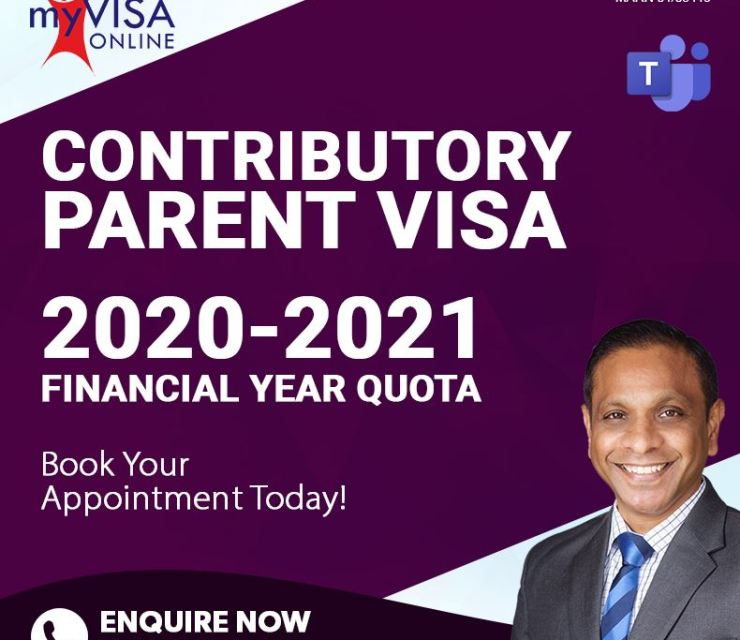 Contributory  Parent Visas 2020 – 2021 Financial Year Quota