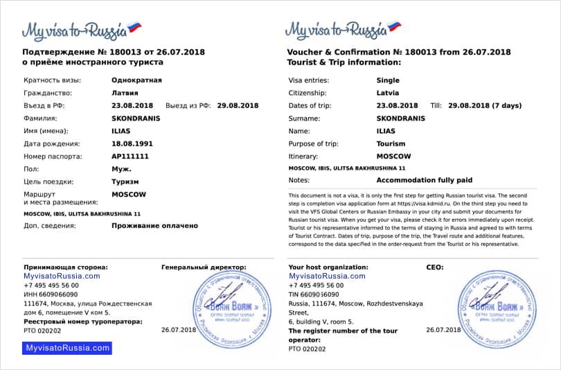 get a russian visa invitation letter