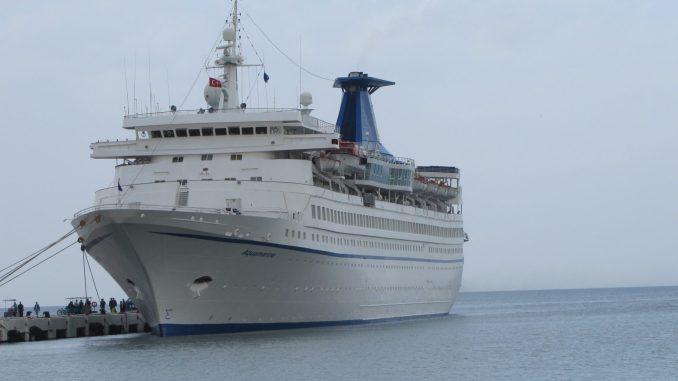 Cruise ship in Kusidasi