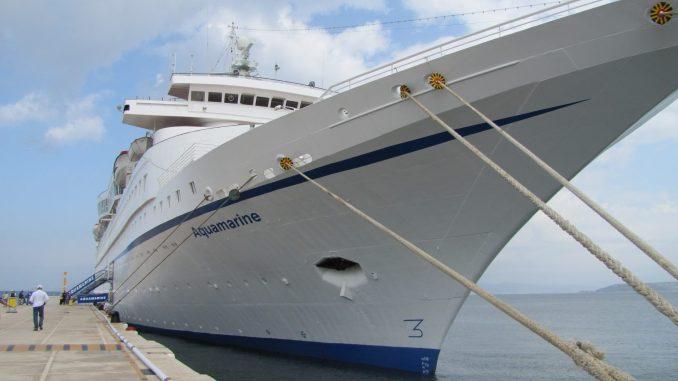 Greek cruise ship Aquamarine in Kusidasi