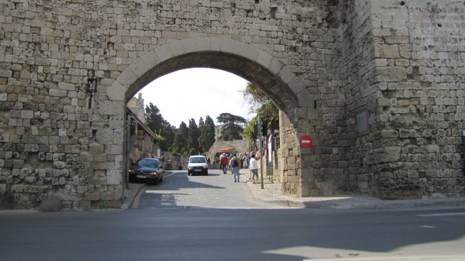 Old city entrance in Rhodes