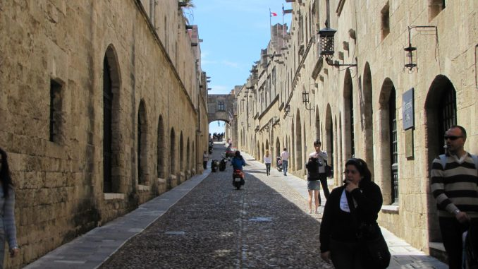 More narrow streets in Rhodes