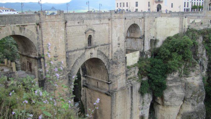 The Roman bridge in Rhonda Spain
