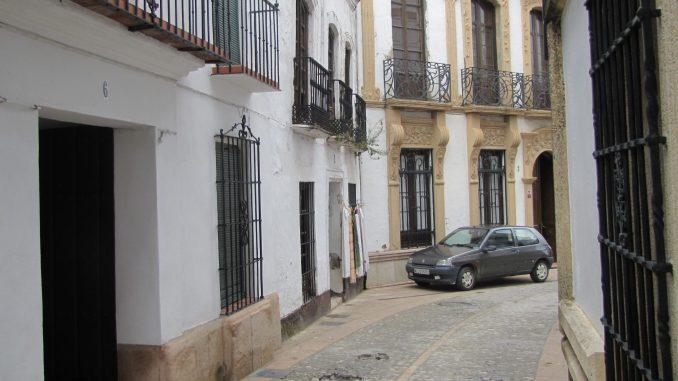 Narrow street in Rhonda Spain