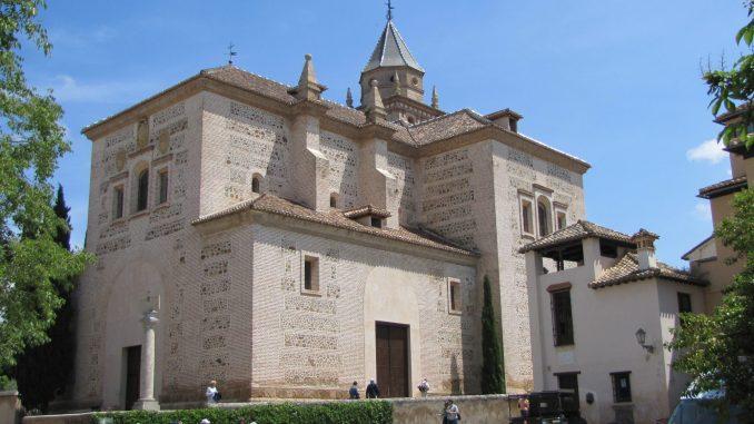 At the Alhambra in Granada Spain