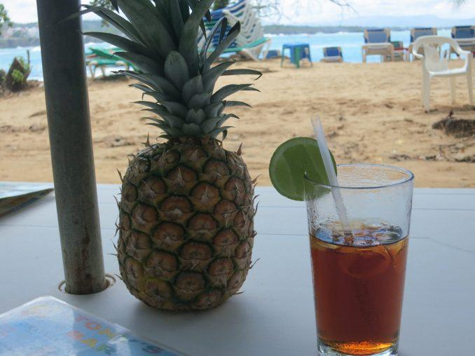 A Cuba-Libre at Sosua beach