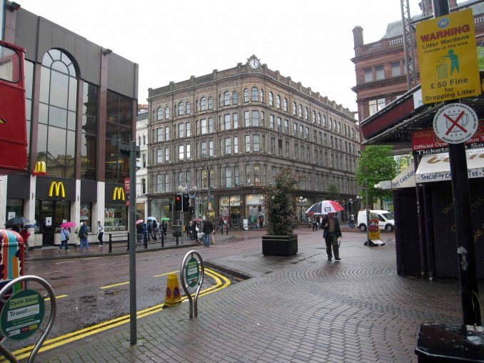 Busy street in Belfast
