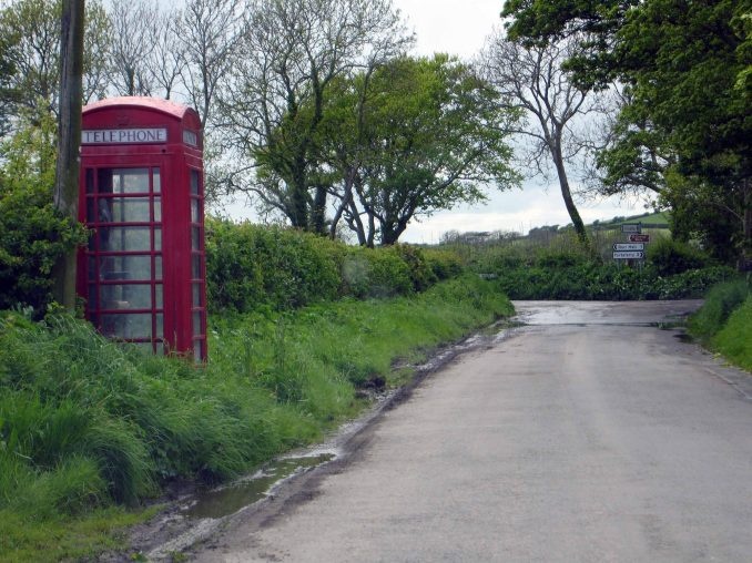 Country road in Portaferry