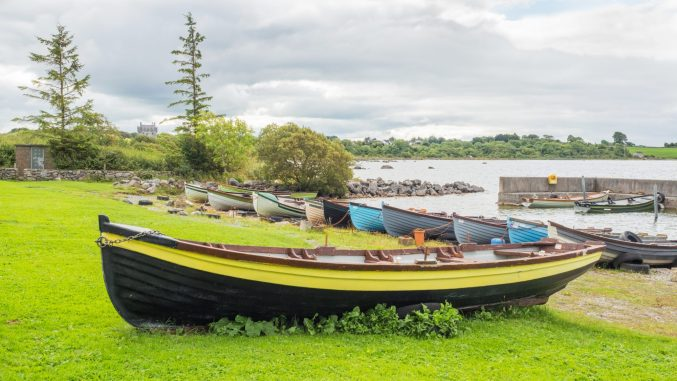 Boats at Annaghdown Pier in Ireland