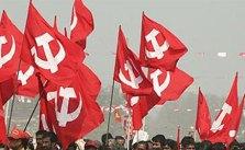 Communists, leftists, CPM, flags