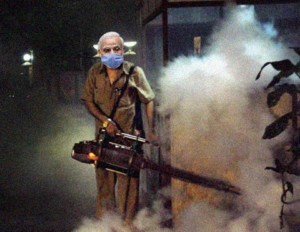 CCTV grab of Modi spreading smoke across Delhi.