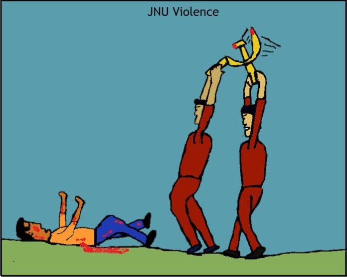 Left attacks innocents in JNU