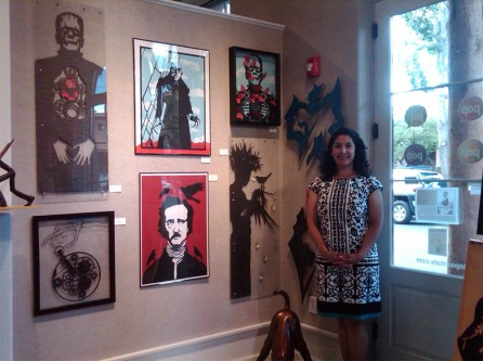 Valerie Rangel in POP Art Gallery Santa Fe, New Mexico
