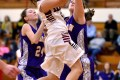 PHOTO BY Dave Baker Badger Andrea Chironis shoots for two at the Feb. 5 game against Elkhorn. Badger won 52-35.