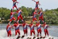 The Minneiska Ski Team helps Whitewater residents ring in the Fourth of July last year with a patriotic performance on Cravath Lake. The ski team will perform again this year on July 4 and 6 at noon. (Bob Mischka photo)