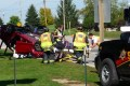 Two car crash closes intersection