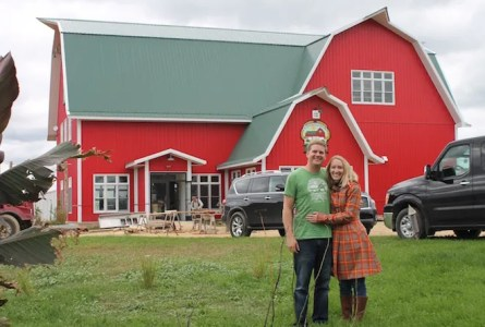 Laura (nee Duesterbeck) and Ben Johnson are the owners of Duesterbeck's Brewing Company in Elkhorn. They came up with the idea as a way to restore old buildings on the property, and pass the family farm on to their children and future generations. (Heather Ruenz photo)