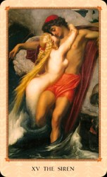 The Devil is renamed The Siren in the Tarot of the Delphi.
