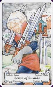 Seven of Swords - Running away, being sneaky, shameful secret